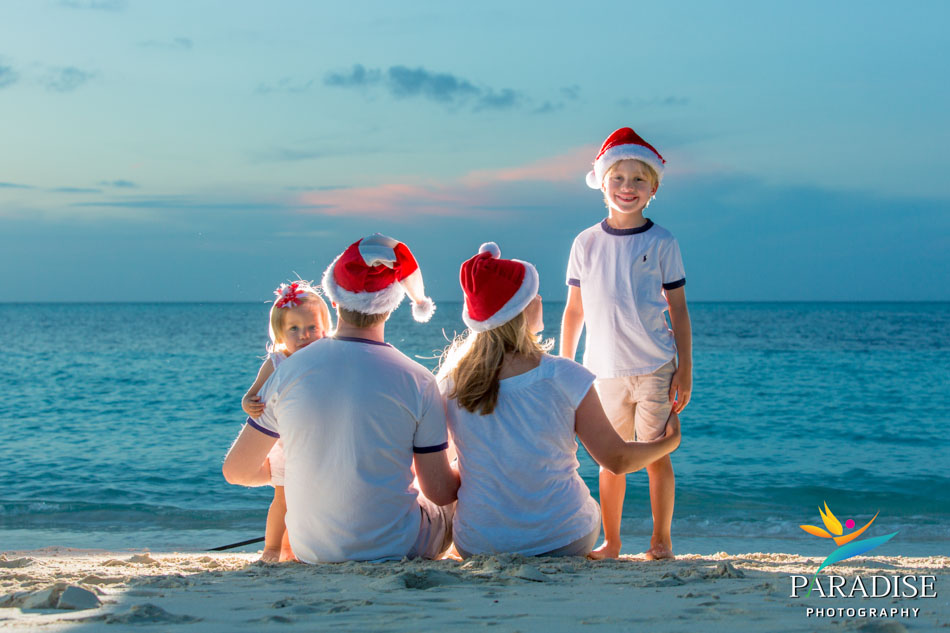 Christmas Beach.Christmas Family Photos On The Beach Turks And Caicos